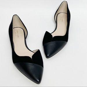 NWOT Cole Haan Josette Skimmer Black Suede Flats